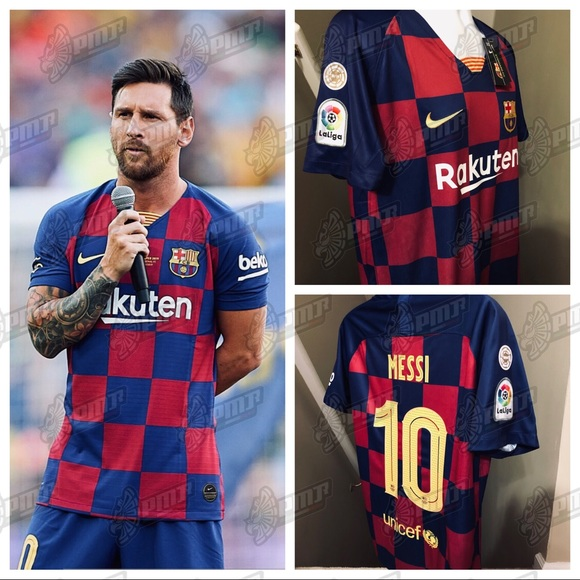 new arrival b7b01 35608 🔥 2019 New HOME Barcelona MESSI #10 Soccer Jersey